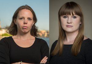 Alexandra Mattson och Clara Lindblom (V). Foto: Erik Nordblad, Malcolm Jacobson