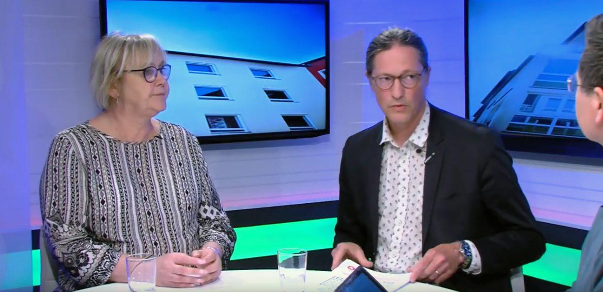 Ann-Margarethe Livh och Rikard Warlenius intervjuas.