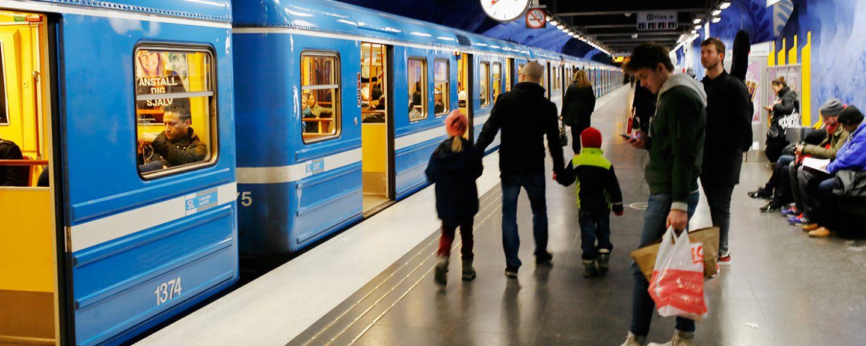 Tunnelbana på T-centralen.