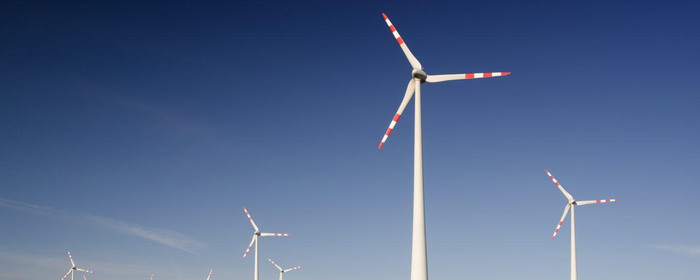 Bild på vindkraftverk
